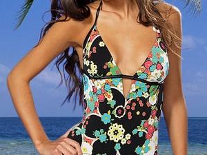 мода на купальники в горошек лето