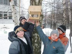 """Ученики 5-6 классов приняли активное участие в экологической акции  """"Подкормите птиц зимой """"."""