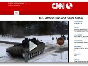 Из соцсети распространяется опасный вирус, замаскированный под сообщение CNN о начале третьей мировой войныСкриншот: Sophos Naked Security Blog
