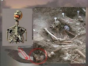 Маттео Боррини предположил, что это наиболее раннее археологическое свидетельство ритуала убийства вампира.