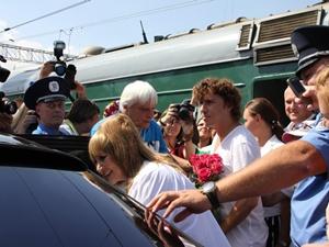 Алла Борисовна прибыла в Крым вместе с супругом Максимом Галкиным